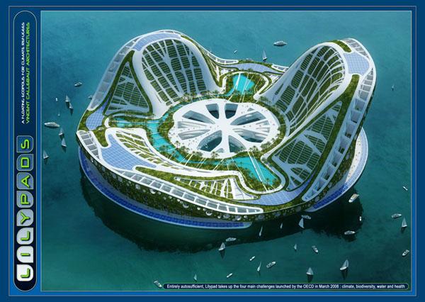 ile flottante de Vincent Callebaut