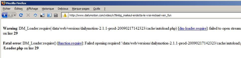 Maikeul Endetta a cassé Dailymotion