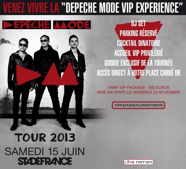 Concert Depeche Mode Stade de France raco82 tijuana.fr vip pack juin 2013