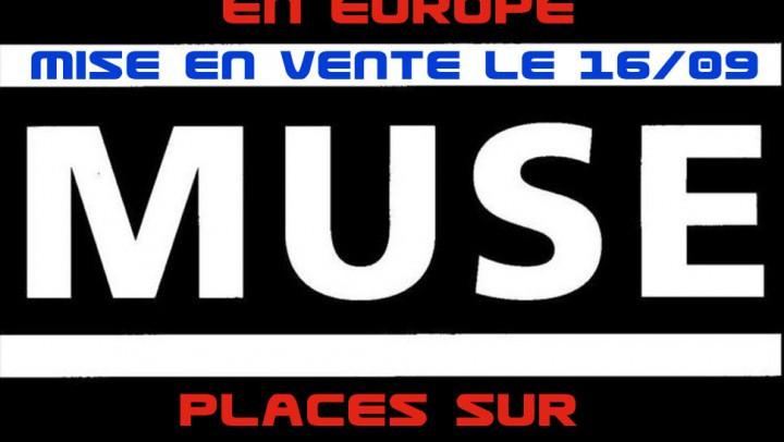 Tournée et places Muse 2016