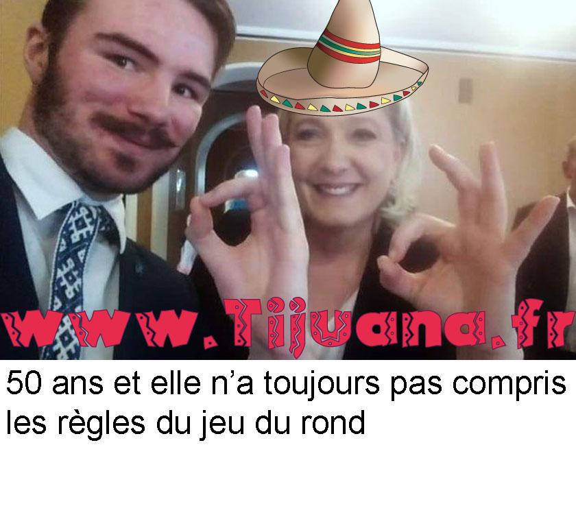 Selfie Le Pen: suprémaciste ou nulle au jeu du rond ?